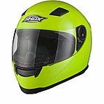image of Shox Sniper Hi-vis Motorcycle Helmet - Large - Hi Vis Yellow
