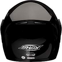 image of Shox Bullet Flip Front Motorcycle Helmet - Gloss Black - Extra Large