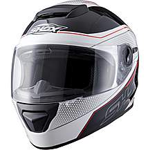 image of Shox Assault Tracer Motorcycle Helmet M White/black/red