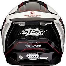 image of Shox Assault Tracer Motorcycle Helmet M Black/white/red