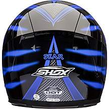 image of Shox Sniper Skar Motorcycle Helmet M Safety Blue