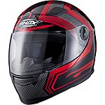 image of Shox Sniper Skar Motorcycle Helmet L Red