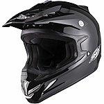 image of Shox Mx-1 Solid Motocross Helmet - Medium -black