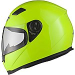 image of Shox Sniper Hi-vis Motorcycle Helmet Xxl Hi-vis Yellow