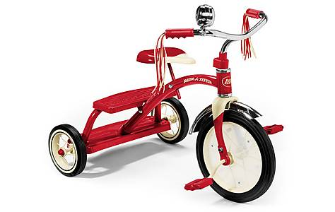 image of Radio Flyer Classic Red Dual Trike 12""