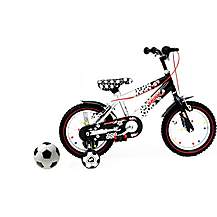 "image of Raleigh Shoot 14"" Boys Bike With Free Size 1 Football."