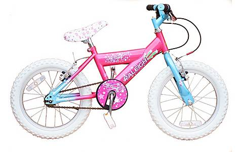 """image of Raleigh Bike Starlight 16"""" Girls Bicycle In Pink - New Model"""