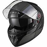 Black Optimus Sv Flip Front Motorcycle Helmet L Gloss Black