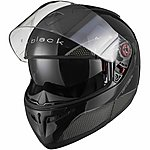 image of Black Optimus Sv Flip Front Motorcycle Helmet L Gloss Black