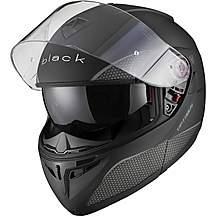 image of Black Optimus Sv Flip Front Motorcycle Helmet S Matt Black