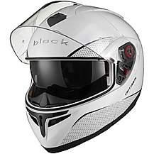 image of Black Optimus Sv Flip Front Motorcycle Helmet Xxl Gloss White