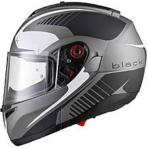 image of Black Optimus Sv Tour Flip Front Motorcycle Helmet L Matt Black White