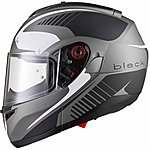 image of Black Optimus Sv Tour Flip Front Motorcycle Helmet L Matt Black White