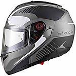 image of Black Optimus Sv Tour Flip Front Motorcycle Helmet Xl Matt Black White