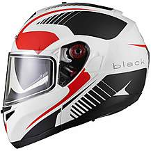 image of Black Optimus Sv Tour Flip Front Motorcycle Helmet Xl Matt White Red Grey