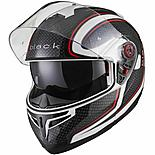Black Optimus Sv Element Flip Front Motorcycle Helmet Xl Black White Red