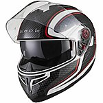 image of Black Optimus Sv Element Flip Front Motorcycle Helmet Xl Black White Red