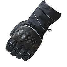 Black Winter Waterproof Motorcycle Gloves M