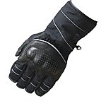 image of Black Winter Waterproof Motorcycle Gloves M