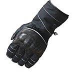 image of Black Winter Waterproof Motorcycle Gloves L