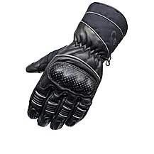 image of Black Vector Leather Motorcycle Gloves M