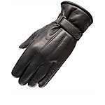 image of Black Vapour Leather Motorcycle Gloves M