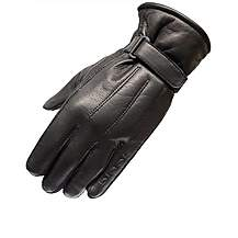 Black Vapour Leather Motorcycle Gloves M