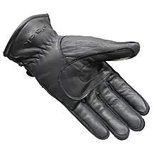 Black Vapour Leather Motorcycle Gloves L