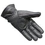 image of Black Vapour Leather Motorcycle Gloves L