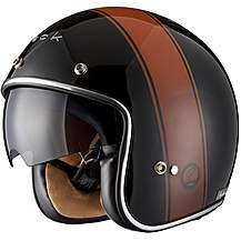image of Black Stripe Limited Edition Motorcycle Helmet L Black Copper
