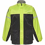 image of Black Spectre Waterproof Motorcycle Jacket L Black/hi-vis (a-050h)