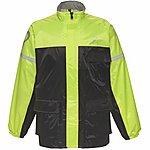 image of Black Spectre Waterproof Motorcycle Jacket L Black/hi-vis (a-050h)