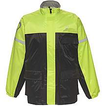 image of Black Spectre Waterproof Motorcycle Jacket Xl Black/hi-vis (a-050h)