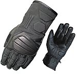 image of Black Duo Leather Motorcycle Gloves L