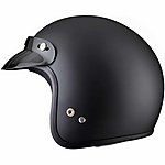 image of Thh T-380 Plain Open Face Helmet M Matt Black