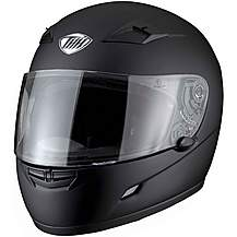 image of Thh Ts-39 Plain Full Face Motorcycle Helmet M Matt Black