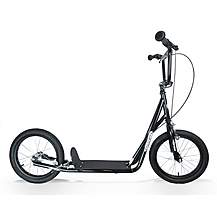 image of 1080 Adult Teen Push Uh Scooter 16inch Pneumatic Tyres Black