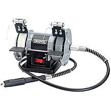 image of Draper 06498 75mm 50w 230v Mini Bench Grinder With Flexible Drive Shaft