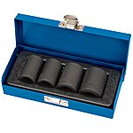 image of Draper 34032 Expert 4 Piece 1/2 Inch Sq. Dr. Locking Wheel Nut Set