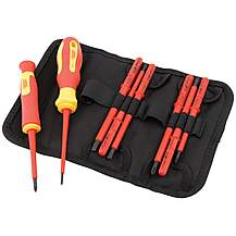 image of Draper 05721 Expert Ergo Plus 10 Piece Vde Approved Fully Insulated Interchangeable Blade Screwdriver Set