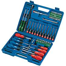 image of Draper 40850 70 Piece Screwdriver, Socket And Bit Set