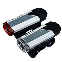 image of Raleigh Moon Silver Front And Rear Led Usb Rechargable Bike Cycle Lights