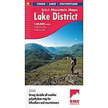 image of Harvey British Mountain Map - Bmc - Lake District