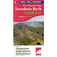 image of Harvey British Mountain Map - Bmc - Snowdonia North