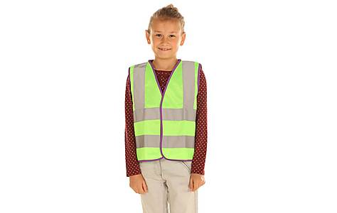 image of Edz Kidz Hi Visibility Vest For Kids, Green, 10-12 Years