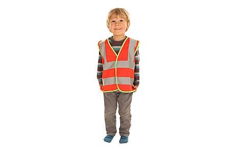 image of Edz Kidz Hi Visibility Vest For Kids, Red, 4-6 Years