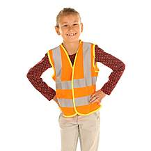 image of Edz Kidz Hi Visibility Vest For Kids, Orange, 4-6 Years