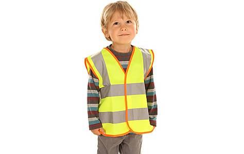 image of Edz Kidz Hi Visibility Vest For Kids, Yellow, 2-3 Years