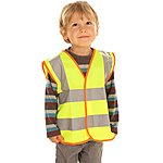 image of Edz Kidz Hi Visibility Vest For Kids, Yellow, 2-3 Years