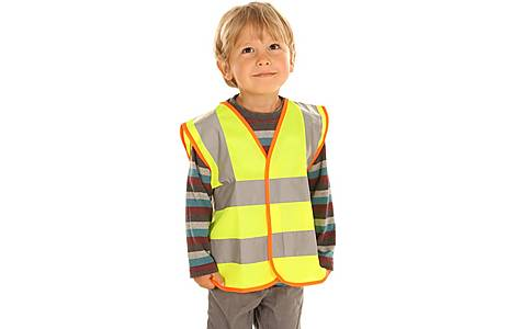 image of Edz Kidz Hi Visibility Vest For Kids, Yellow, 4-6 Years
